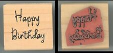 Rubber Stamp Block - Great Impressions B202 - Happy Birthday C-4