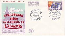 Enveloppe 1er jour FDC 1965 - Conseil de l'Europe timbre 0.60