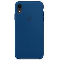 iPhone XR 6.1' Echt Original Apple Silikon Schutz Hülle Case - Horizont blau