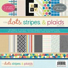DCWV 12 by 12-inches Dots, Stripes and Plaids Premium Printed Mat Stack