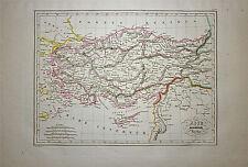 1833 Genuine Antique map Ancient Asia Minor. Malte-Brun