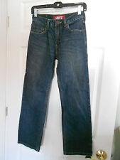 LEVI'S 514 Slim Straight Jeans Dark Wash Boy's Size 14 Regular (27 X 27) EUC