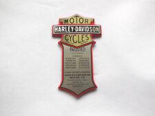 Harley Davidson Emblem Medallion universell Nostalgie Batterie Sissy Bar  66041