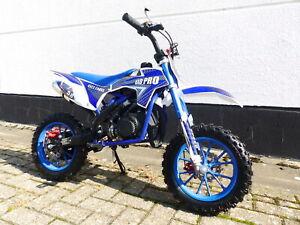 Pocketbike KXD 702 Dirtbike Pocket Cross Bike Kindermotorrad Crossbike Blau