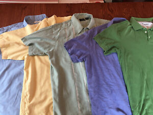 Lot Mens Short Sleeve Button Down Shirt Haggar Caribbean XL