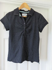 PETER STORM Ladies Navy Spotted Polo Blouse UK10 BNWT