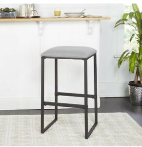 Cheyenne Products Beau Grey Upholstered Bar Stool, CPFB1657