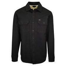 OBEY Men's Black Solid L/S Woven Shirt (Medium)