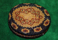 Beautiful Vintage NOVICA Beaded Lidded Basket Made In Bali