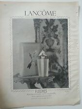 1946 Lancome French Perfume Fleches Art Deco Fragrance Bottle Wallace Photo Ad
