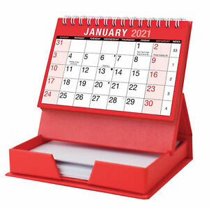 2022 Desktop Calendar with Memo Pad - Month to View