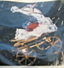 """""""Christmas Carriage"""" kit makes 1 Ornament new gold metal carriage baby buggy"""