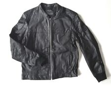 Mens Black Leather Jacket by All Saints - XL (but would fit a Large)
