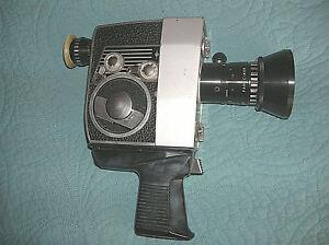 Bolex P4 zoom reflex automatic 8mm movie camera.