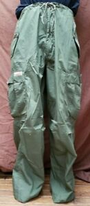 Vintage UFO Basic Parachute Pants Cargo Rave Green Men Size small Drawstring