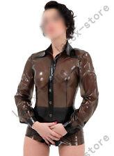 763 Latex Rubber Gummi Shirts blouse suit coats unique customized clothing 0.4mm