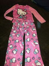 Girls Size Medium Hello Kitty 2 Piece PJ's VGC