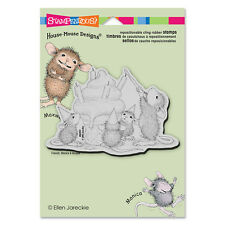 HOUSE MOUSE RUBBER STAMPS CLING BIRTHDAY CONE NEW cling STAMP