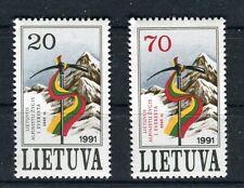 Lituania / Lithuania 1991 Conquista vetta Everest da alpinisti lituani  MNH