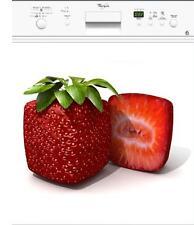 Sticker lave vaisselle électroménager déco cuisine Fraise 60x60cm réf 021