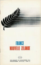 FRANCE v NEW ZEALAND 25 Nov 1967 at Paris RUGBY PROGRAMME