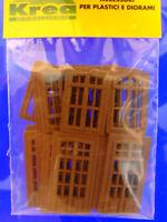 Porte e finestre stile Italiano per modellismo HO - 1/87 pz.20 - Krea