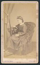 CDV c. 1880 - Jeune Fille au Livre à Tours - T253