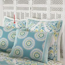 Dena Home Nostalgia BREEZE European Pillow Sham Aqua White Yellow NIP Euro