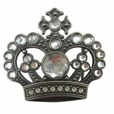 Royal Princess Queen Diva Crown Buckle Prom Wedding Crystal Bling Hip Hop Playa
