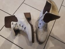 New  Gabor Ankle Boots Suede & Leather cream/ brown Size 6