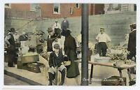 Curb Market, Farmers Market in LANCASTER PA Vintage Pennsylvania Postcard
