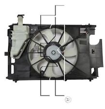 TYC 623150 Dual Rad&Cond Fan Assy for Toyota Prius C 2012-2016 Models