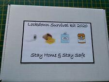 Lockdown Survival Kit Gift Box Friend Family Stay Safe Patient Lockdown Novelty