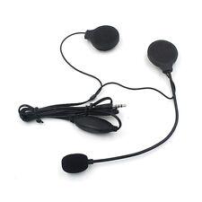 3.5MM Helmet Headphone Earphone with Microphone Speaker for MP3 Cellphone