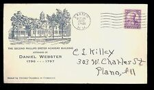 #725 1932 3c Daniel Webster FDC Planty #24 1st Exeter C of C  Cat $25.00  FD2766