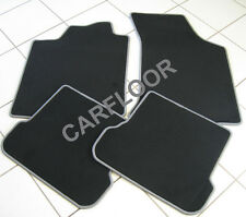 Mitsubishi Grandis ab 03.04 Fußmatten Velours schwarz mit Rand grau