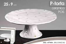 ALZATA PORTA TORTA IN CERAMICA TONDA DECORO POIS 25*9 CM JAL-677434