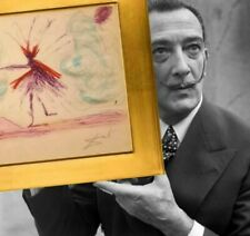 "SALVADOR DALI ""Fausto"" Original  Painting Signed COA."