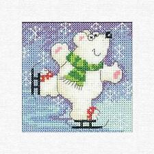 Heritage Crafts Counted Cross Stitch Kit - Karen Carter Christmas Cards - Polar