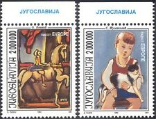 Yugoslavia 1993 Europe/Art/Cat/Horse/Circus/Artists/Painters 2v set (n32079)