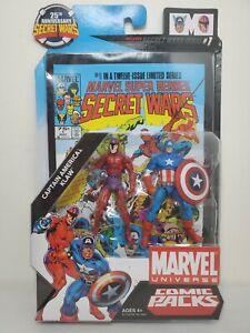 "Marvel Universe 25th anniversary Secret Wars  3.75"" Klaw and Captain America 2pk"