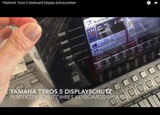YAMAHA Tyros 5 Keyboard Displayschutzfolie adhäsiv (ablösbar ohne Rückstände)