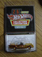 Hot Wheels 1966 TV BATMOBILE 26th Convention 2012 Gold RARE # 1003 of only 1100