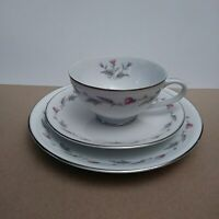 "Empress China H ""Thistle"" # 803 Trio Teacup, Saucer & Plate Set Made in Japan"