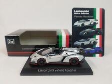1:64 Kyosho Lamborghini Minicar Collection Veneno Roadster 2014-2015 Silver/Red