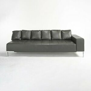 1999 Zanotta Alfa IGrey Leather Sectional Modular Sofa by Emaf Progetti 2x Avail