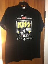Kiss -1994 2nd Chicago Convention:Ace Frehley Large T-Shirt_USED