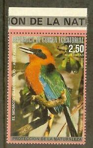 Equatorial Guinea -1974- South American & Australian bird - Momoto Cabecirrojo