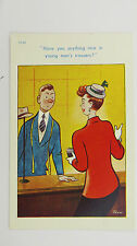 1950s Risque Comic Vintage Postcard Gents Trousers Bespoke Tailor Savile Row