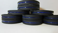 10 Thin Blue Line Silicone Wristband Police Bracelet Support Law Enforcement USA